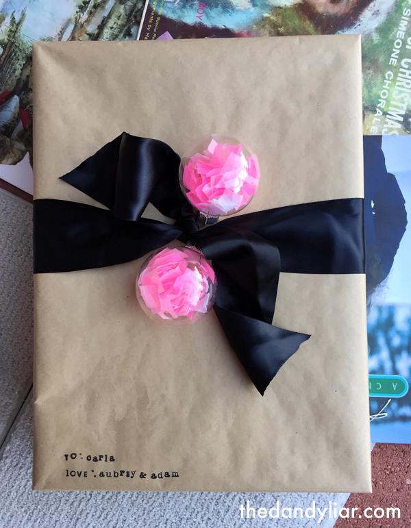 DIY Confetti Ornament + Gift Topper