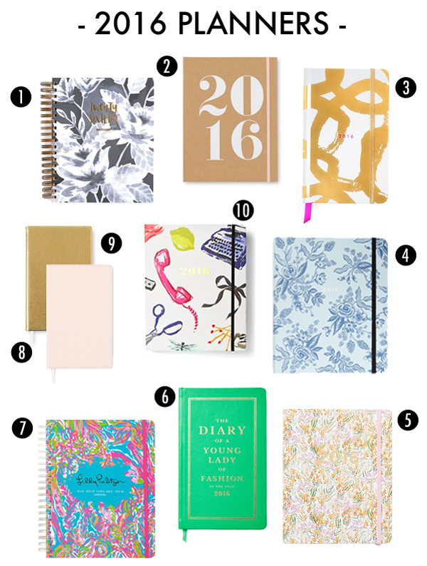 2016 wee hours planner rifle paper co 5 2016 tiny blossoms calendar lulie wallace 6 2016 leather planner kate spade new york 7