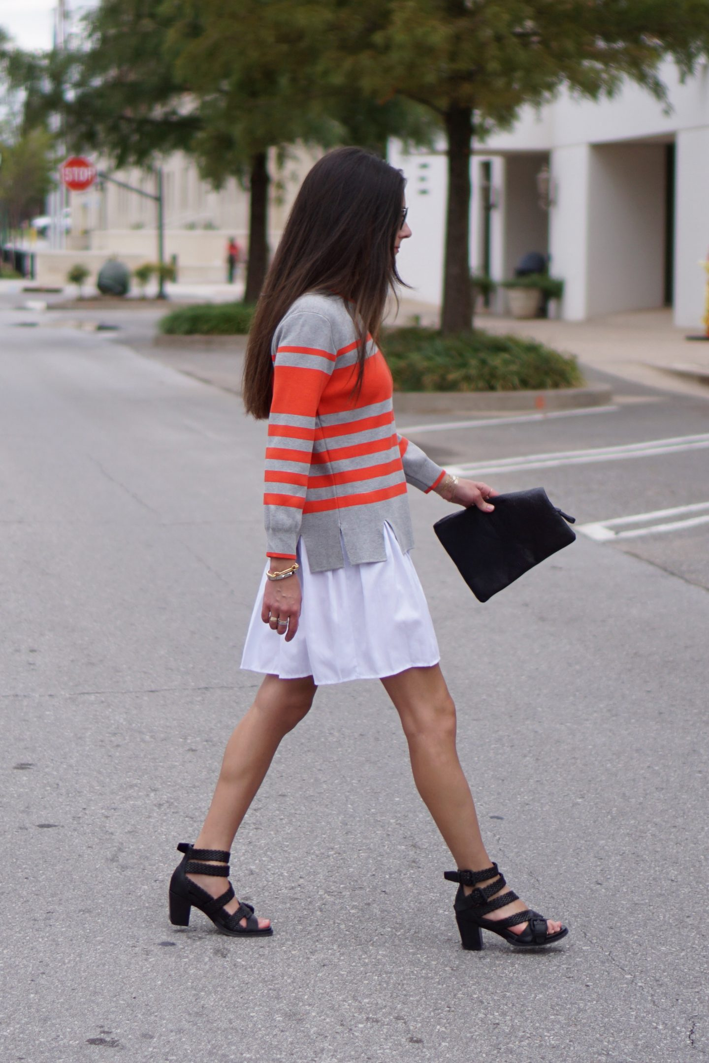 Striped Sweaterdress + The Peach Box