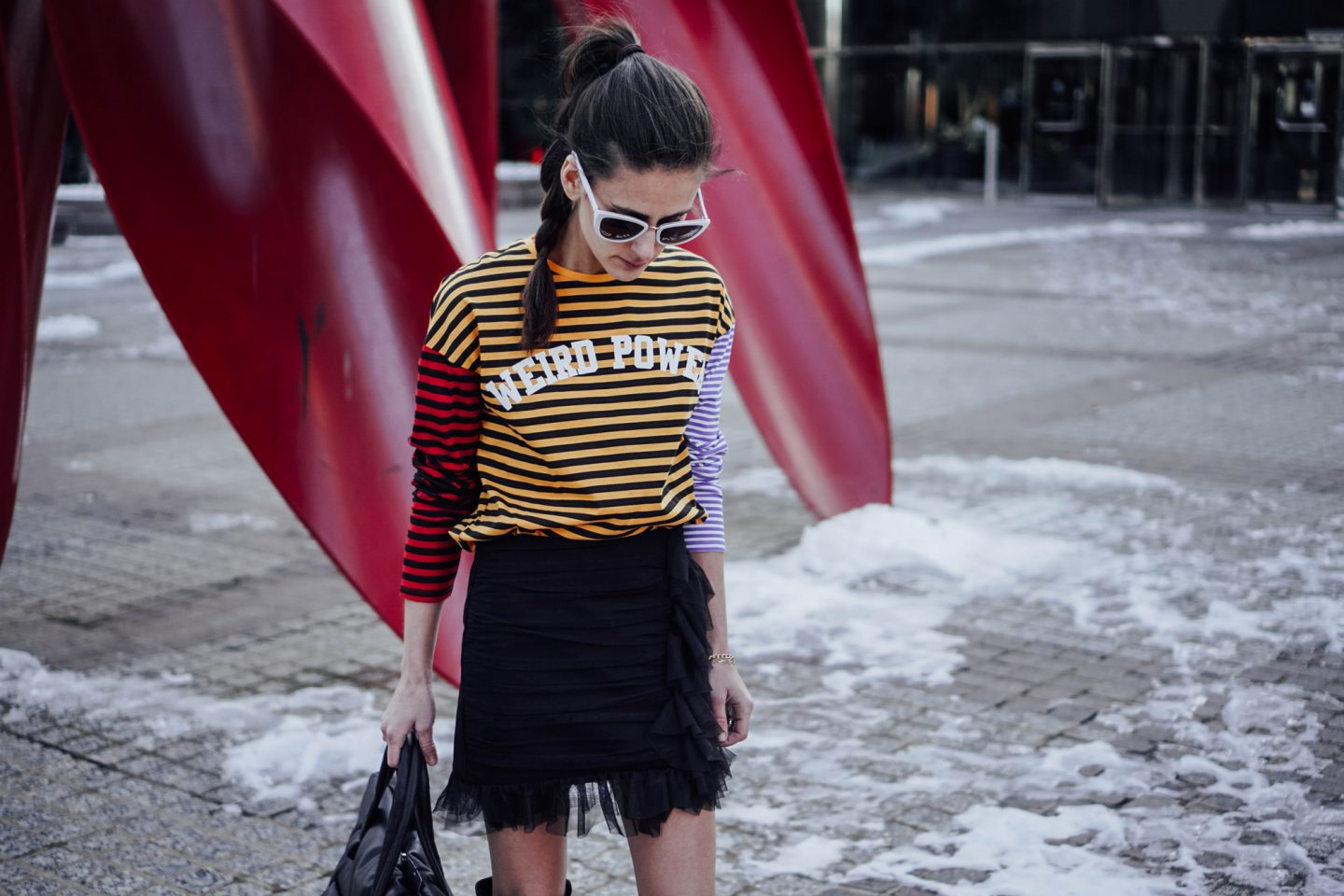 My Favorite picks from the Zara, like this black tulle skirt and striped graphic tee, are on TheDandyLiar.com.