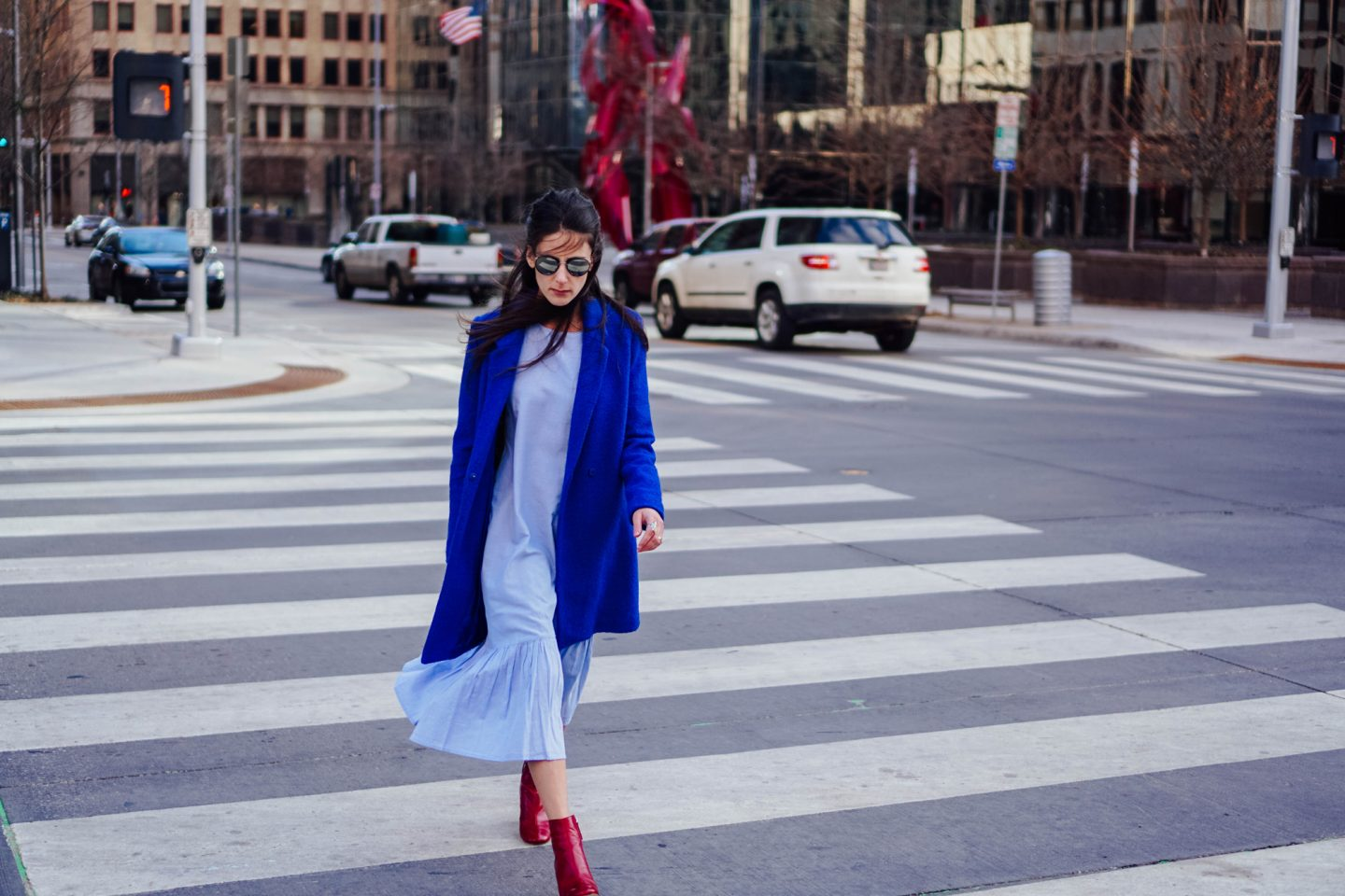 My Favorite picks from the Zara, like cornflower blue dress and red boots, are on TheDandyLiar.com.