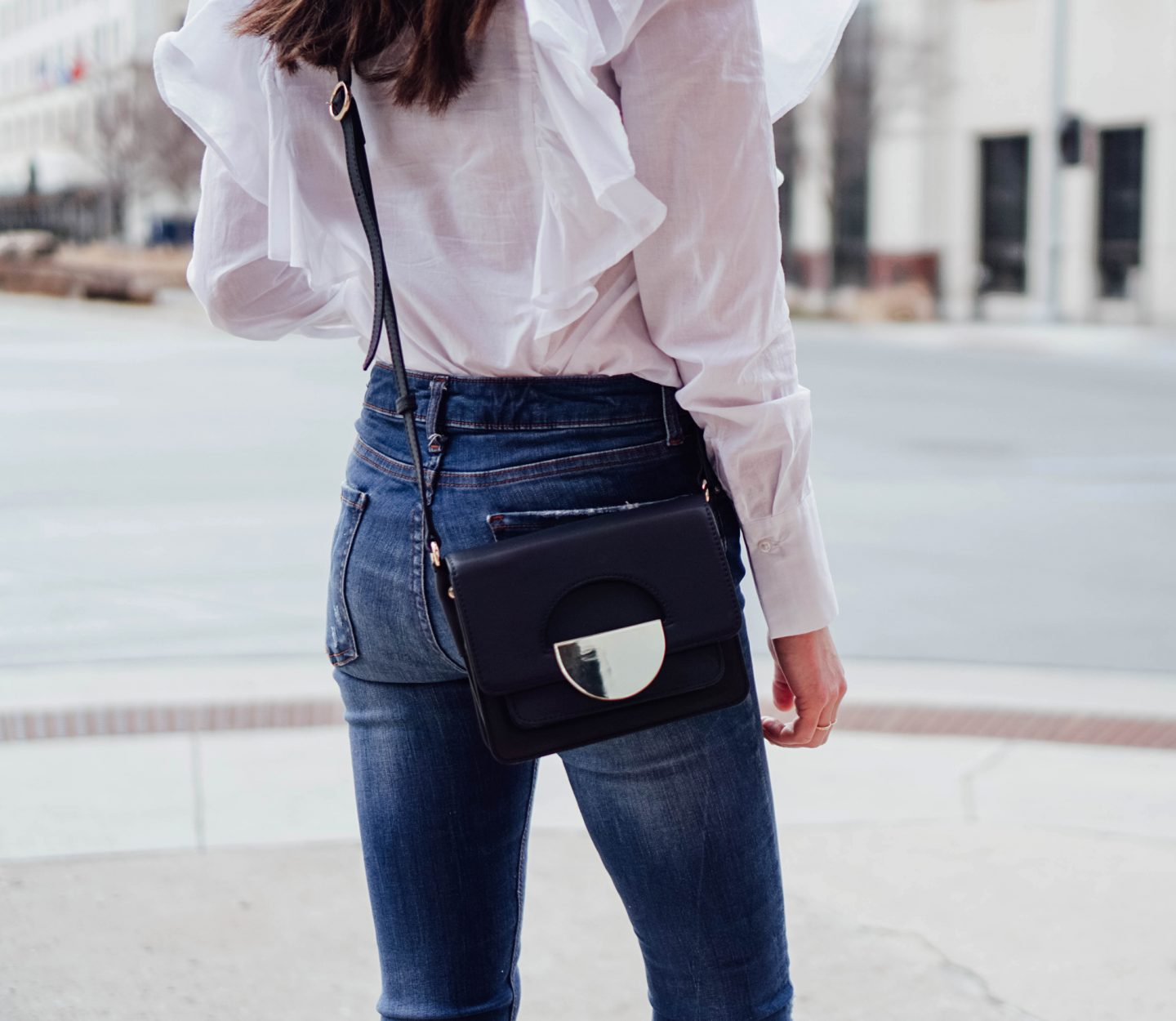 I am partnering with Marks and Spencer on TheDandyLiar.com to update my shoe wardrobe with some fresh new styles, like these gorgeous navy leather cross body bag.
