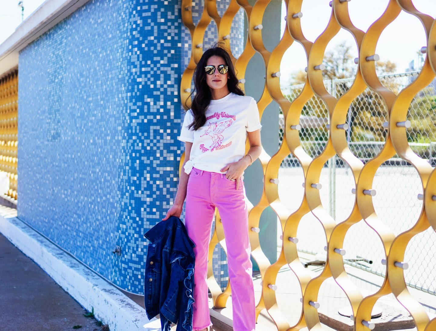 Curious as to how to rock a 70s vibe, but in a modern way? I'm over on TheDandyLiar.com talking about how to style your favorite flared denim, like these amazing pink high-waisted bell bottoms I just purchased!