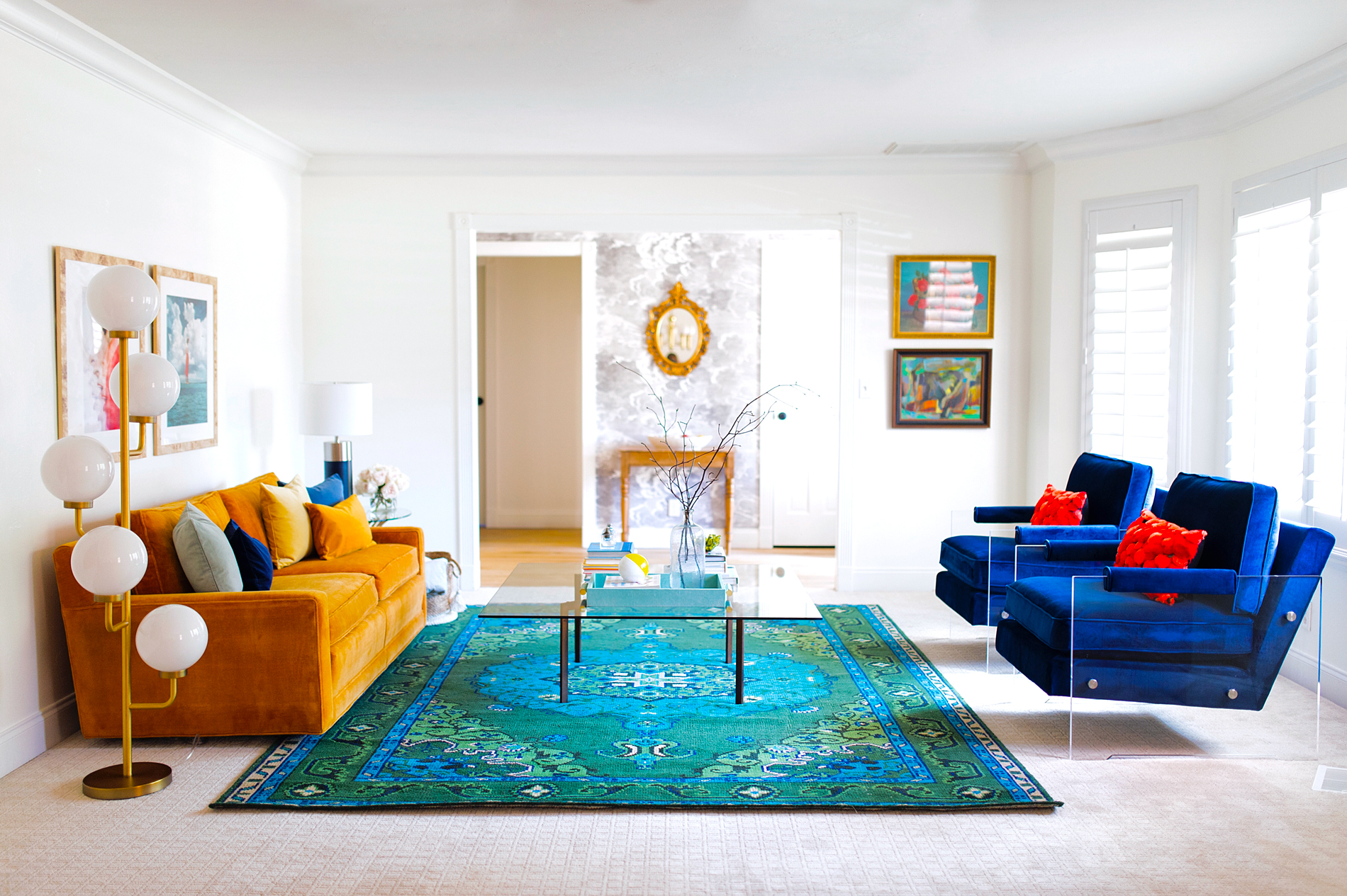 Colorfully Modern Formal Living Room - The Dandy Liar | Fashion ...