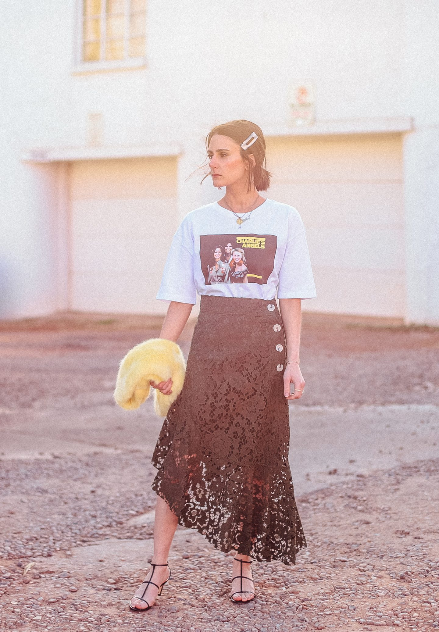 I am styling two different graphic tees in unexpected ways!