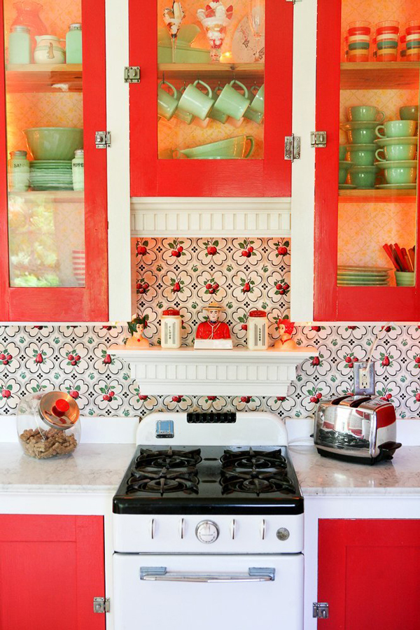 Kitchen Backsplashes: Wallpaper