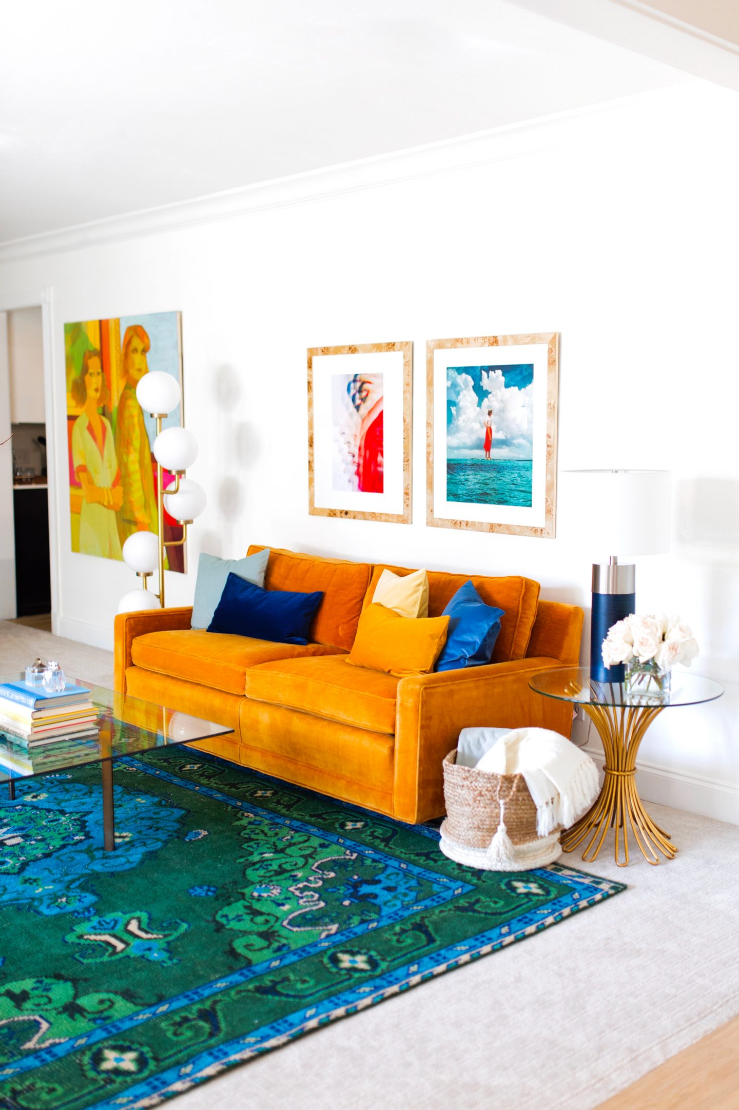 Colorfully Modern Formal Living Room