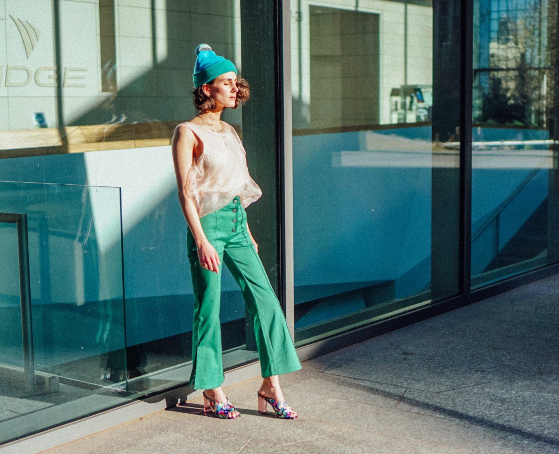 Fancy green pants The Dandy Liar H&M